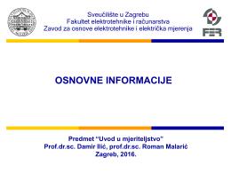 Uvod - FER - Sveučilište u Zagrebu