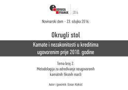 Prezentacija Gorana Aleksića