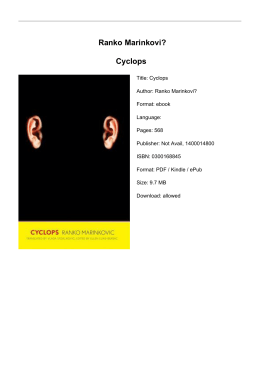 Ranko Marinkovi? Cyclops