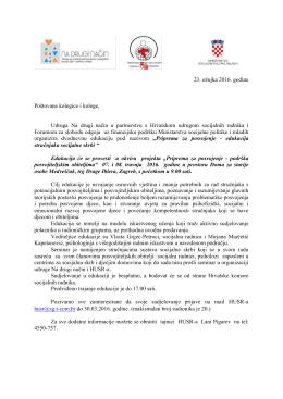 pozivnica - Hrvatska udruga socijalnih radnika