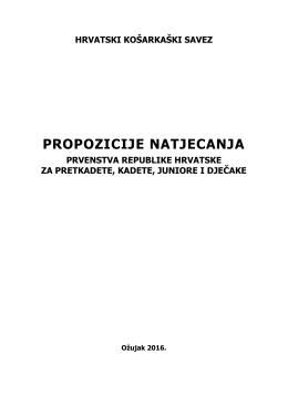 propozicije natjecanja - Hrvatski Košarkaški Savez