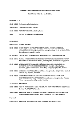 Preliminarni program kongresa
