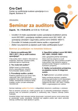 Seminar za auditore