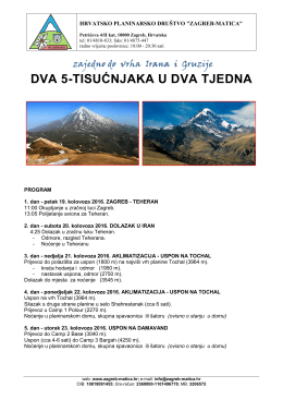 Program izleta  - HPD Zagreb