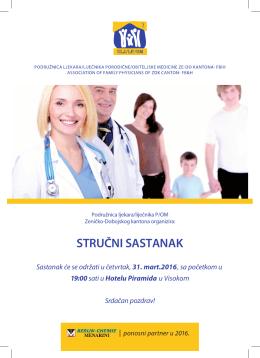 stručni sastanak - Udruženje ljekara / liječnika porodične / obiteljske