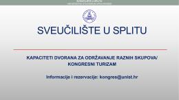 Kongresne dvorane - Sveučilište u Splitu