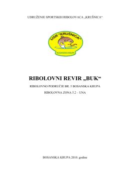 Poslovnik o radu revira Buk-Una