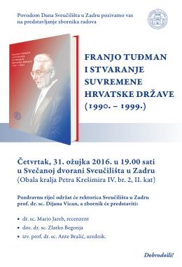franjo tuđman i stvaranje suvremene hrvatske države