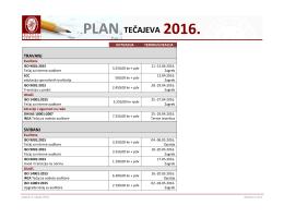 plan tečajeva 2016