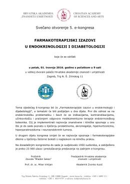 Svečano otvorenje 5. e-kongresa FARMAKOTERAPIJSKI