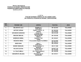 Bosna i Hercegovina - Federalno ministarstvo pravde