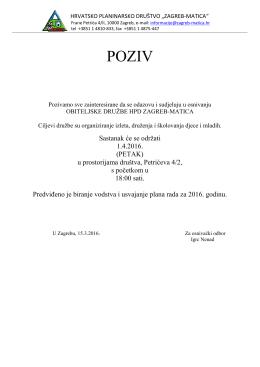 poziv osnivanje obiteljske - HPD Zagreb