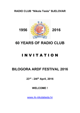 1956 2016 60 years of radio club invitation