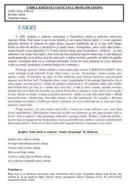 Župni listić 27.03.2016 - Župa Sveti Križ Začretje