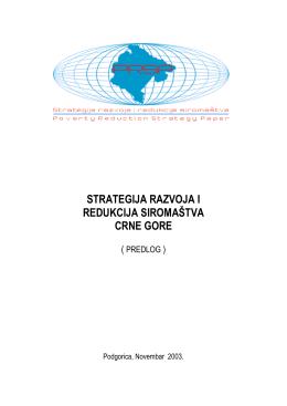 Strategija redukcije siromastva u Crnoj Gori 2003