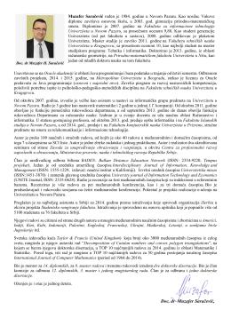 Doc. dr Muzafer Saračević,