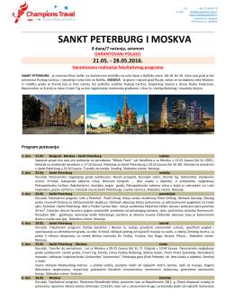 St Peterburg i Moskva