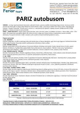 Pariz autobusom