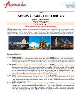 Moskva i St Peterburg