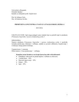 Primenjena lingvistika i nastava italijanskog jezika 4