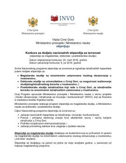 Crna Gora Ministarstvo prosvjete Crna Gora Ministarstvo nauke