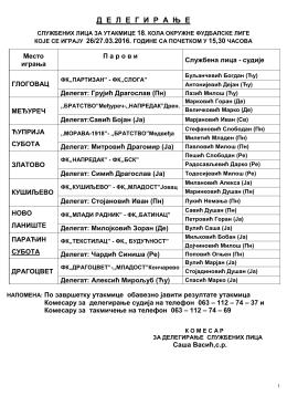 Okružna liga - fudbalski savez pomoravskog okruga