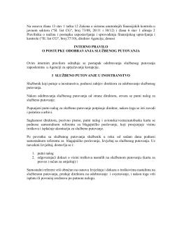 Prijedlog internog pravila o postupku
