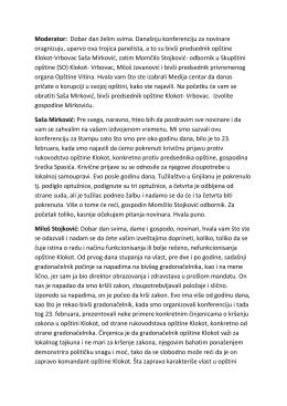 Transkript - Konferencija- Klokot