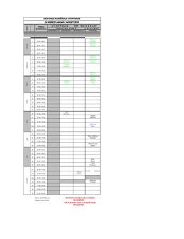 Raspored iznajmljivanja apartmana