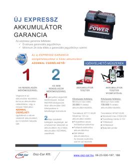 új expressz akkumulátor garancia - Osz-Car