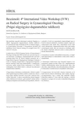 4th International Video Workshop (IVW)