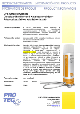 DPF/Catalyst Cleaner - PRO-TEC
