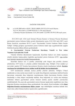 Gayrimenkul Yatırım Fonları - Tapu ve Kadastro Genel Müdürlüğü
