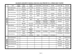 2015-2016 Öğretin Yılı 2. Dönem Sınav Takvimi için tıklayınız... 2016