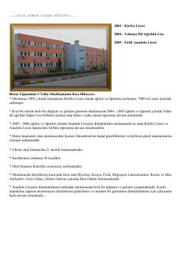 Tarihçe - İSKENDERUN - Fatih Anadolu Lisesi