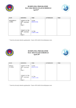IB DIPLOMA PROGRAMME MAY 2016 MOCK