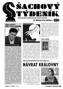 sach.tydenik 2016-11_12 - Šachový oddíl TJ Sokol Pozlovice