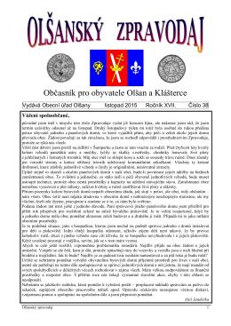 Olšanský zpravodaj 4-2015 [pdf - 844,1 kb]