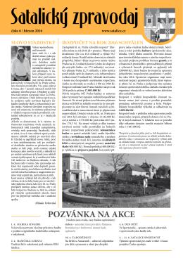 Satalický zpravodaj č. 1/2016