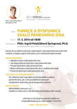 Téma FunkCe a DYsFunkCe sVaLŮ PáneVnÍhO Dna
