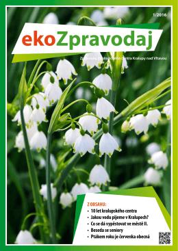 EkoZpravodaj 1/2016 - Ekologické centrum Kralupy