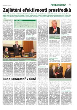 Zajištění efektivnosti prostředků - Česká akademie zemědělských věd