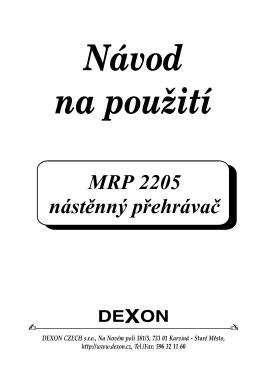 MRP 2205 nástěnný přehrávač
