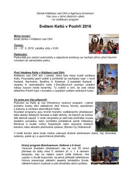 Světem Keltů 2016 KnO - Zámek Klášterec nad Ohří