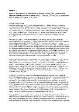 Příloha č. 1 Odborné stanovisko Ing. V. Pušmana, Ph.D. z Fakulty