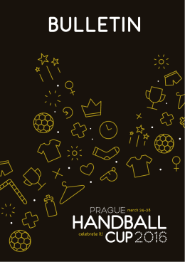 Bulletin - Prague Handball Cup