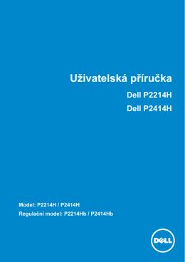 Uživatelská příručka Dell P2214H Dell P2414H