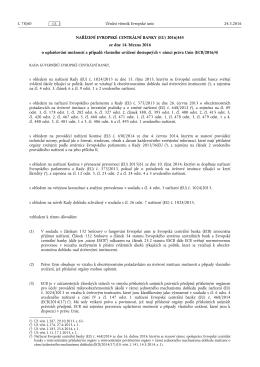 NAŘÍZENÍ EVROPSKÉ CENTRÁLNÍ BANKY (EU) 2016/ 445