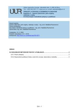 D.6 Související metodické pokyny a publikace
