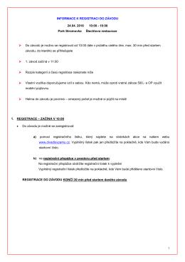 Stáhněte si důležité informace k závodu a rozpis